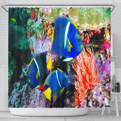 Blue Fish Shower Curtain - Create Your Own Custom Apparel T-Shirts Home Decor Lifestyle The Harry Potter Store