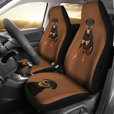 Brown background Rottweiler Car Seat Cover - Create Your Own Custom Apparel T-Shirts Home Decor Lifestyle The Harry Potter Store