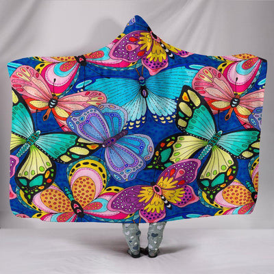 Butterflies Hooded Blanket - Create Your Own Custom Apparel T-Shirts Home Decor Lifestyle The Harry Potter Store