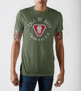 Call of Duty A Solider In All Of Us Vintage Skull Badge Military Green Soft Hand Print T-shirt - Create Your Own Custom Apparel T-Shirts Home Decor Lifestyle The Harry Potter Store