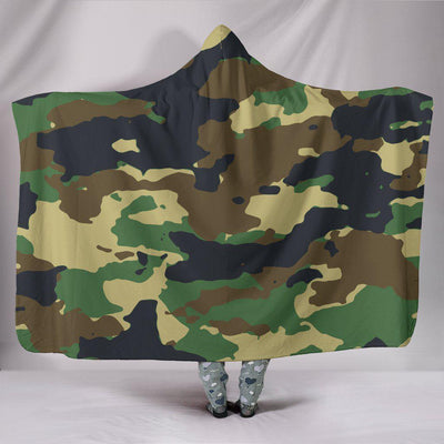 Camo Hooded Blanket - Create Your Own Custom Apparel T-Shirts Home Decor Lifestyle The Harry Potter Store