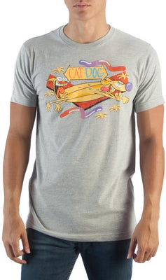 CatDog Nickelodeon Grey T-Shirt - Create Your Own Custom Apparel T-Shirts Home Decor Lifestyle The Harry Potter Store