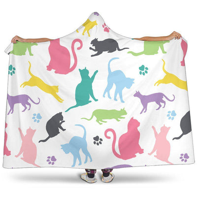 Cats Hooded Blanket - Create Your Own Custom Apparel T-Shirts Home Decor Lifestyle The Harry Potter Store