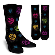 Chain Heart Socks - Create Your Own Custom Apparel T-Shirts Home Decor Lifestyle The Harry Potter Store