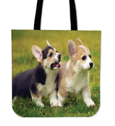 Corgi Dogs Canvas Tote Bag - Create Your Own Custom Apparel T-Shirts Home Decor Lifestyle The Harry Potter Store