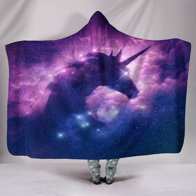 Cosmic Unicorn Hooded Blanket - Create Your Own Custom Apparel T-Shirts Home Decor Lifestyle The Harry Potter Store