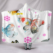 Customised Hoodie Blanket Pretty Butterfly Pattern - Create Your Own Custom Apparel T-Shirts Home Decor Lifestyle The Harry Potter Store