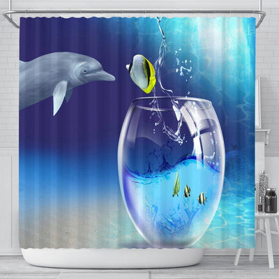 Cute ocean fish Shower Curtain - Create Your Own Custom Apparel T-Shirts Home Decor Lifestyle The Harry Potter Store
