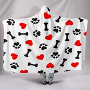 Dog Love Hooded Blanket - Create Your Own Custom Apparel T-Shirts Home Decor Lifestyle The Harry Potter Store