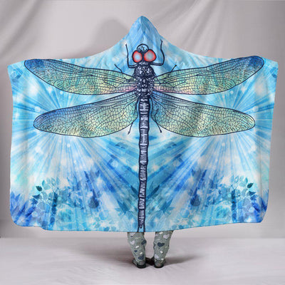 Dragonfly 2 Hooded Blanket - Create Your Own Custom Apparel T-Shirts Home Decor Lifestyle The Harry Potter Store