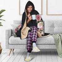 Floral Love (Black) - Hooded Blankets - Create Your Own Custom Apparel T-Shirts Home Decor Lifestyle The Harry Potter Store