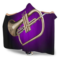 Flugelhorn Cozy Hooded Blanket - Create Your Own Custom Apparel T-Shirts Home Decor Lifestyle The Harry Potter Store