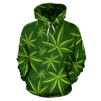 Marijuana Weed Leaf Hoodie - Create Your Own Custom Apparel T-Shirts Home Decor Lifestyle The Harry Potter Store