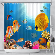 Yellow Fish Shower Curtain - Create Your Own Custom Apparel T-Shirts Home Decor Lifestyle The Harry Potter Store