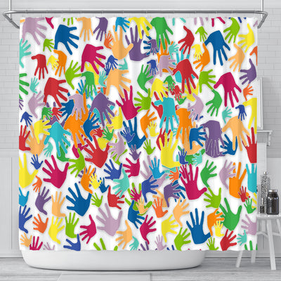 Many Hands - Shower Curtain