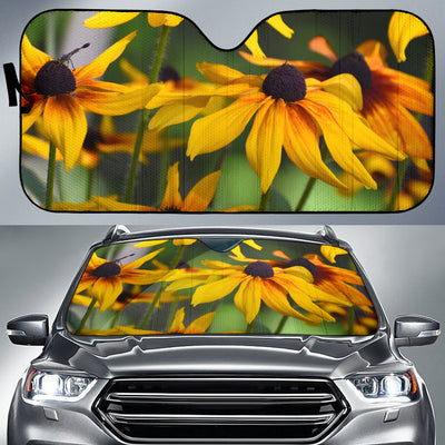 Auto Sun Shade - Yellow Daisies Design