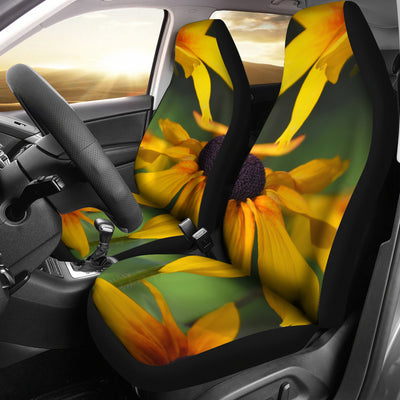 Car Seat Covers - Yellow Daisies Design