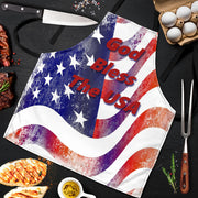 God Bless The USA - 4th Of July BBQ Grill Master Apron