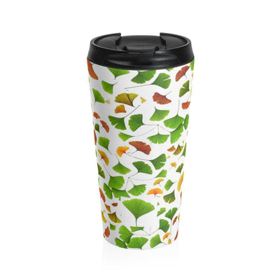 Ginkgo Biloba Leaves - Stainless Steel Travel Mug - Create Your Own Custom Apparel T-Shirts Home Decor Lifestyle The Harry Potter Store