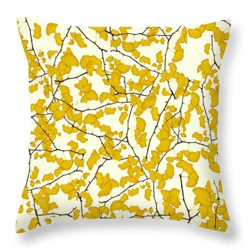 Ginkgo Leaves In Fall - Throw Pillow - Create Your Own Custom Apparel T-Shirts Home Decor Lifestyle The Harry Potter Store