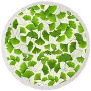 Ginkgo Leaves - Round Beach Towel - Create Your Own Custom Apparel T-Shirts Home Decor Lifestyle The Harry Potter Store