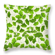Ginkgo Leaves - Throw Pillow - Create Your Own Custom Apparel T-Shirts Home Decor Lifestyle The Harry Potter Store