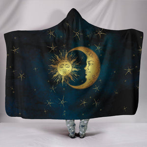 Gold Sun and Moon Hoodie Blanket - Create Your Own Custom Apparel T-Shirts Home Decor Lifestyle The Harry Potter Store