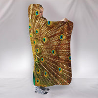 Golden Peacock Plush Lined Hooded Blanket - Create Your Own Custom Apparel T-Shirts Home Decor Lifestyle The Harry Potter Store