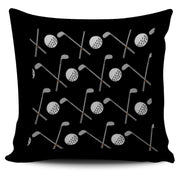 Golf Design Pillow Case - Black - Create Your Own Custom Apparel T-Shirts Home Decor Lifestyle The Harry Potter Store