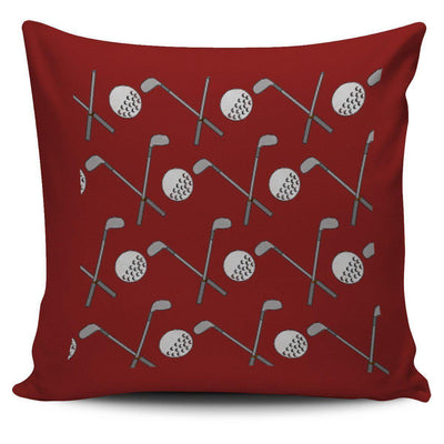 Golf Design Pillow Case - Burgundy - Create Your Own Custom Apparel T-Shirts Home Decor Lifestyle The Harry Potter Store