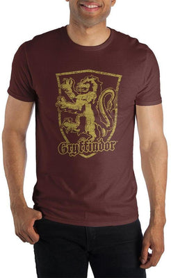 Harry Potter Gryffindor Logo Men's Burgundy T-Shirt - Create Your Own Custom Apparel T-Shirts Home Decor Lifestyle The Harry Potter Store