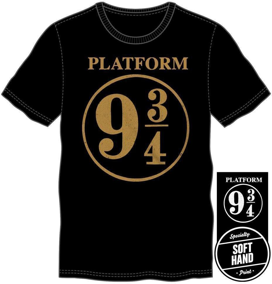 Harry Potter Hogwarts Express Platform Nine and Three-Quarters 9 3/4 Men's Black T-Shirt - Create Your Own Custom Apparel T-Shirts Home Decor Lifestyle The Harry Potter Store