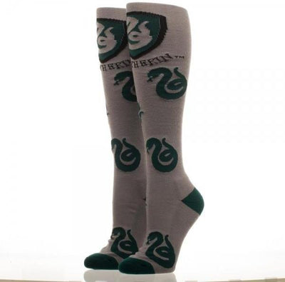 Harry Potter Slytherin Juniors Knee High Socks - Create Your Own Custom Apparel T-Shirts Home Decor Lifestyle The Harry Potter Store