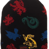 Hogwarts House Mascots Magic Jacquard Beanie - Create Your Own Custom Apparel T-Shirts Home Decor Lifestyle The Harry Potter Store