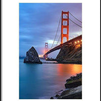 I Left My Heart In San Francisco - Framed Print - Create Your Own Custom Apparel T-Shirts Home Decor Lifestyle The Harry Potter Store