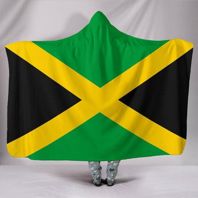 Jamaica Flag Hooded Blanket - Create Your Own Custom Apparel T-Shirts Home Decor Lifestyle The Harry Potter Store