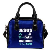 Jesus Is The Anchor Leather Shoulder Handbag - Create Your Own Custom Apparel T-Shirts Home Decor Lifestyle The Harry Potter Store