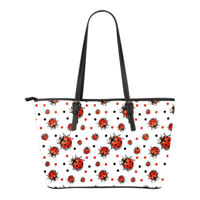 Ladybird Small Leather Tote Bag - Create Your Own Custom Apparel T-Shirts Home Decor Lifestyle The Harry Potter Store