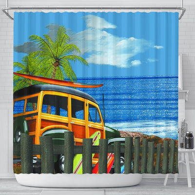 Let's Go To The Beach!  Shower Curtain - Create Your Own Custom Apparel T-Shirts Home Decor Lifestyle The Harry Potter Store