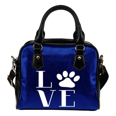 Love Dogs Leather Shoulder Handbag - Create Your Own Custom Apparel T-Shirts Home Decor Lifestyle The Harry Potter Store