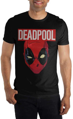 Marvel Comics Deadpool Movie Costume Face Men's Black T-Shirt - Create Your Own Custom Apparel T-Shirts Home Decor Lifestyle The Harry Potter Store