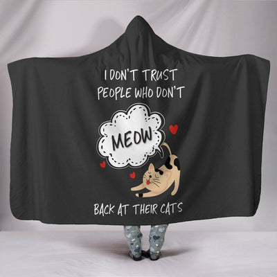 Meow Back At Their Cats Hooded Blanket - Create Your Own Custom Apparel T-Shirts Home Decor Lifestyle The Harry Potter Store