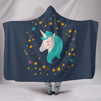 Midnight Blue Starry Night Unicorn Hooded Blanket - Create Your Own Custom Apparel T-Shirts Home Decor Lifestyle The Harry Potter Store