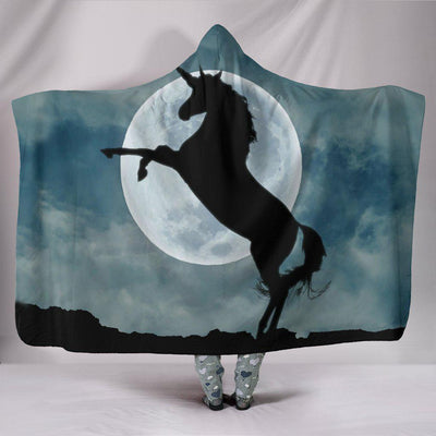 Moonlight Unicorn Plush Hooded Blanket - Create Your Own Custom Apparel T-Shirts Home Decor Lifestyle The Harry Potter Store