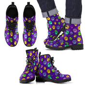 Muerto Sugar Skulls Vegan Leather Boots Men's - Create Your Own Custom Apparel T-Shirts Home Decor Lifestyle The Harry Potter Store