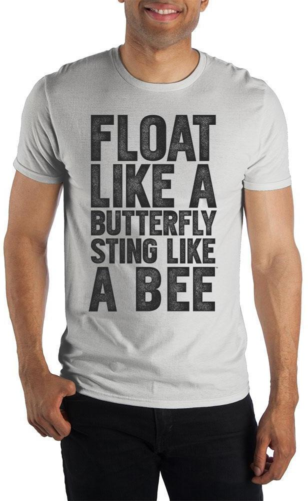 Muhammad Ali Foat Like A Butterfly Sting Like A Bee Men's Black T-Shirt Tee Shirt - Create Your Own Custom Apparel T-Shirts Home Decor Lifestyle The Harry Potter Store