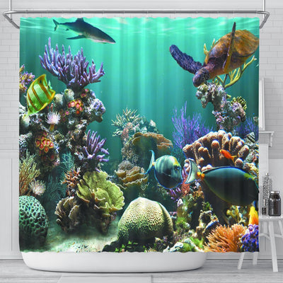 Ocean World Shower Curtain - Create Your Own Custom Apparel T-Shirts Home Decor Lifestyle The Harry Potter Store
