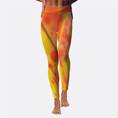 Orange Waves - Women's Leggings - Create Your Own Custom Apparel T-Shirts Home Decor Lifestyle The Harry Potter Store