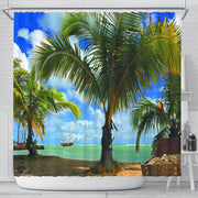 Palms Shower Curtain - Create Your Own Custom Apparel T-Shirts Home Decor Lifestyle The Harry Potter Store