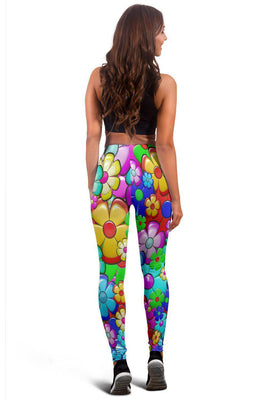 Retro Flower Power - Women's Leggings - Create Your Own Custom Apparel T-Shirts Home Decor Lifestyle The Harry Potter Store